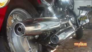 Download Yamaha Dragstar Exhaust Modification - No rejet! Video