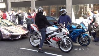 Download Superbikes and Supercars Go Crazy in the City!! Video
