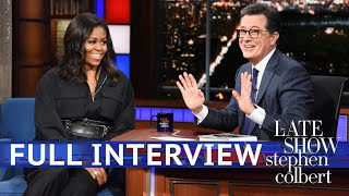 Download Full Interview: Michelle Obama Talks To Stephen Colbert Video
