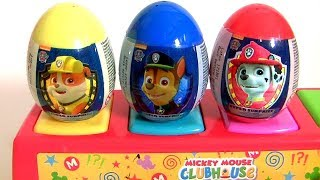 Download Paw Patrol Pop-Up Pals Surprise Eggs Toys Learn COLORS with Rocky Zuma Rubble Chase Video