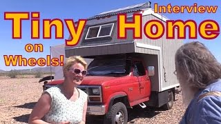 Download Adventurous Woman Living in a Tiny Home on Wheels: Interview Video