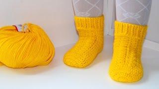 Download Мастер класс по вязанию детских носочков крючком. DIY socks crochet Video