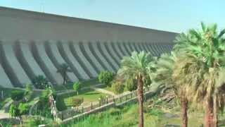 Download Aswan Low Dam (or Old Aswan Dam) and the High Dam in the Nile River in Aswan, Egypt. Video