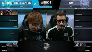 Download CLG vs TSM | Week 8 Day 1- NA LCS SUMMER 2018 - Counter Logic Gaming vs Team SoloMid Video