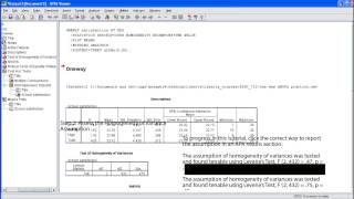 Download SPSS Tutorial: One Way ANOVA Video