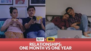 Download FilterCopy | Relationships: One Month vs One Year | Ft. Apoorva Arora and Rohan Shah Video