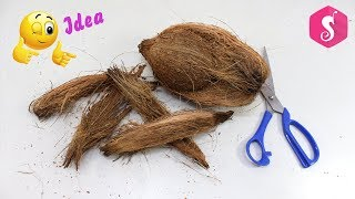 Download DIY Coconut Fiber Craft Idea | Best out of Waste Coconut Fibers | Reuse waste material craft Video