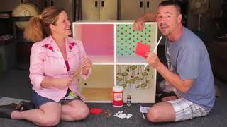 Download DIY Modern Bookshelf Dollhouse with Cathie & Steve Video