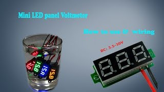 Download how to use Digital LED Display mini dc volt meter 4-30v Video