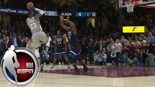 Download LeBron James wins game with ridiculous block- and buzzer-beater combo vs. Timberwolves | ESPN Video
