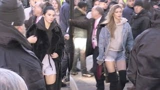 Download Victoria s Secret Angel Kendall Jenner, Gigi Hadid and more arriving at the Grand Palais in Paris Video