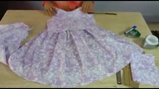 Download فستان طفلة سهل و بسيط 😃😃 Video