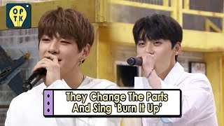 Download [Oppa Thinking - Wanna One] They Change The Parts And Sing 'Burn It Up' 20170911 Video