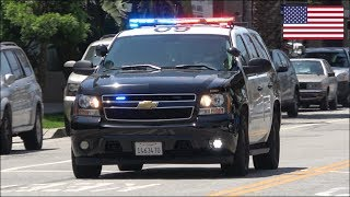 Download Sheriff police car responding on siren and lights - Chevrolet Tahoe Video