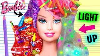 Download WEIRD DIY SLIME YOU MUST TRY | Barbie Hair Slime, Light Up Slime, School Supplies Slime, WORM Slime! Video