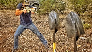 Download Will a Shovel Stop a Bullet??? Video