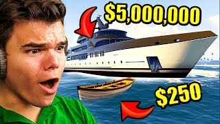 Download CHEAPEST vs. Most EXPENSIVE Boat In GTA 5! Video
