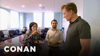 Download Conan Busts His Employees Eating Cake - CONAN on TBS Video