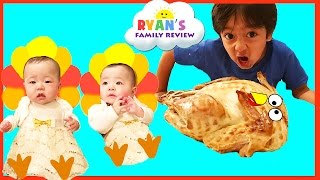 Download Baby's First Thanksgiving 2016! Ryan's Family Review Holiday Special Event! Family Fun Vlog Video