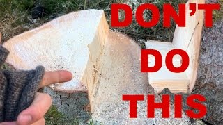 Download NEVER Do This When Cutting Down A Tree!! Video