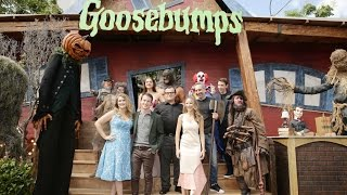Download Goosebumps Premiere - Jack Black, Odeya Rush, Halston Sage, Dylan Minnette, Ryan Lee, Slappy Video