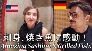 Download 【魚真】シリコンバレーから来た外国人カップルが刺身に感動!Amazing Sashimi and Griled Fish! Video