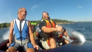 Download Fast Boat Ride with Mark on the Hardy Dam Pond Video