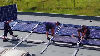 Download 100 kWp solar system Q.FLAT-G4 Video