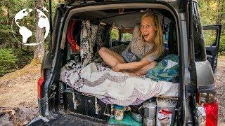 Download Rock Climber Lives in a SUV in order to Travel Solo and Eats for Free Video