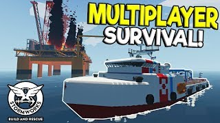 Download MULTIPLAYER SINKING SHIP SURVIVAL & RESCUE! - Stormworks: Build and Rescue Update Gameplay Video