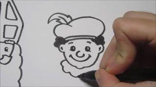 Download Sinterklaas & Zwarte Piet leren tekenen in stappen! Video