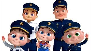 Download Police Finger Family And More   Nursery Rhymes & Kids Songs   Finger Family Collection Video