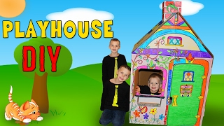 Download Kids DIY Cardboard Box House Playtime Video