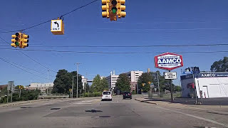 Download Driving by Downtown Kalamazoo,Michigan Video