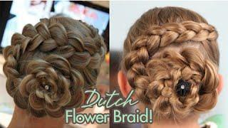 Download Dutch Flower Braid | Updos | Cute Girls Hairstyles Video