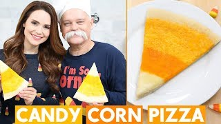 Download CANDY CORN THEMED PIZZA w/ my Dad! Video
