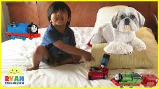Download Ryan Plays with Thomas & Friends Toy Trains for Kids Video