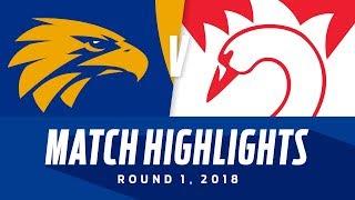 Download Match Highlights: West Coast v Sydney   Round 1, 2018   AFL Video