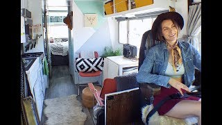 Download She Transformed A $1,900 Vintage RV Into A Gorgeous Tiny House On Wheels Video