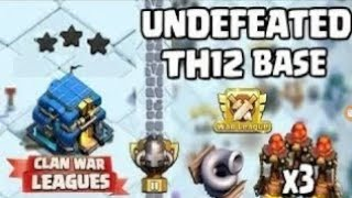 New Best Th 12 Anti 1 Star or 2 Star War Base + Replays