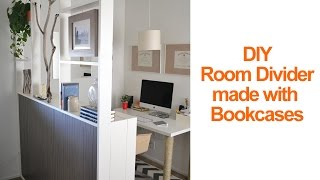 Download How to make a temporary room divider with IKEA Billy bookcases to create a home office Video
