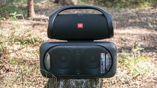 Download JBL Boombox vs Sony GTK-XB60 outdoor comparison Video