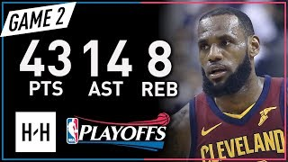 Download LeBron James EPIC Full Game 2 Highlights vs Raptors 2018 NBA Playoffs - 43 Pts, 14 Ast, MVP Mode! Video