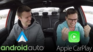 Download Android Auto vs Apple CarPlay REAL WORLD TEST - Yuri and Jakub Go For a Drive Video