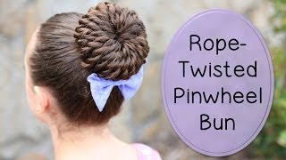Download Rope-Twisted Pinwheel Bun | Prom Hairstyles Video