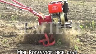 Download mini rotavator cultivator walking tractor agriculture equpment farmer punjab Video