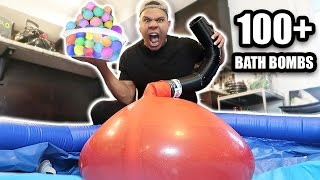 Download GIANT 6FT WATER BALLOON 100 BATH BOMBS EXPERIMENT!! *EXPLOSION* Video