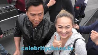 Download Action movie star Actor Donnie Yen thrills every fan he meets in hollywood Video