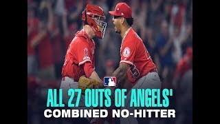 Download Amazing. Angels throw combined no-hitter while honoring Tyler Skaggs Video