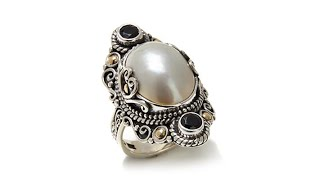 Download Bali Designs Mab Pearl and Gemstone 2Tone Ring Video